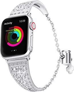 Exotic Jewelry Bracelet for Apple Watch 1/2/3/4, Adjustable Wristband, Gorgeous iWatch Bands for Women