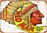 Wall-Color 7 x 10 Metal Sign - Red Man Chewing Tobacco - Vintage Look