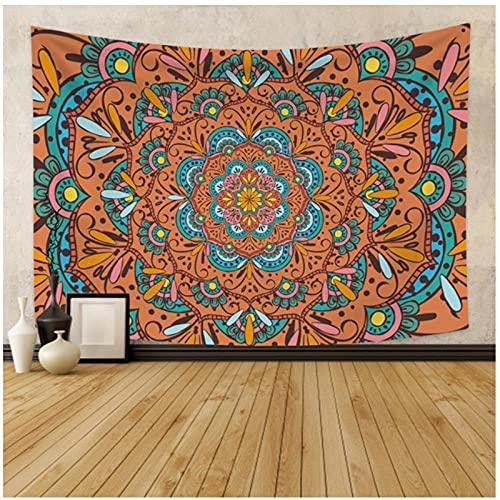 Tapiz by BD-Boombdl Mandala encaje decorativo pared arte fondo tela colgante de pared playa alfombra tienda viaje Yoga Mat colchón 59.05'x78.74'Inch(150x200 Cm)
