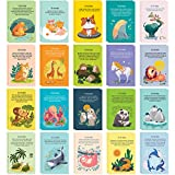 40 Animal Fun Fact Postcards - Bulk Thinking of You Postcard Pack for Kids, Students, Friends, Teacher, and More - Say Hello, Thank You or I Miss You with Colorful Note Cards
