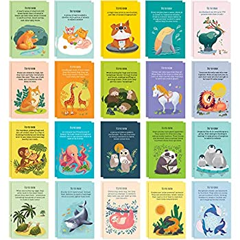 40 Animal Fun Fact Postcards - Bulk Thinking of You Postcard Pack for Kids Students Friends Teacher and More - Say Hello Thank You or I Miss You with Colorful Note Cards
