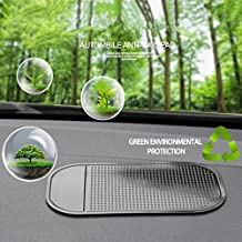 Cell Pads Non-Stick Anti-Slide Dash Cell Phone Bracket Mat Car Dashboard Sticky Pad Adhesive Anti Mat for Mobile Phone/ Electronic Gadgets GPS, 4 PCS