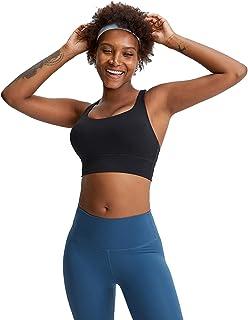 Sports Yoga Bras, Women Cross Back Shockproof Comfort Workout Yoga Bra for Running,Black,4