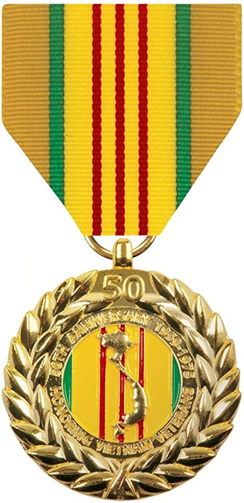 Attention brand Vietnam 50th Over item handling Anniversary Commemorative Anodized Medal