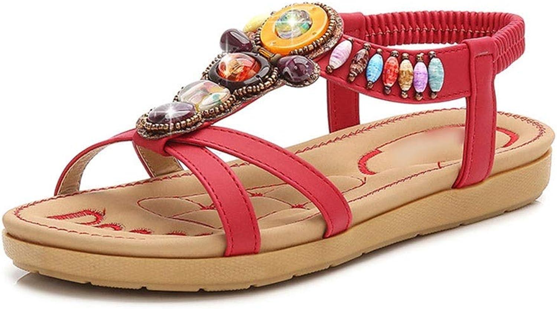 WENNEW Bohemian Sandals Coloured Diamonds Comfy Sandals