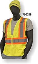 Majestic CLASS 2 HIGH VISIBILITY MESH VEST WITH ZIPPER - XTRA LARGE, YELLOW(75-3209/X1)