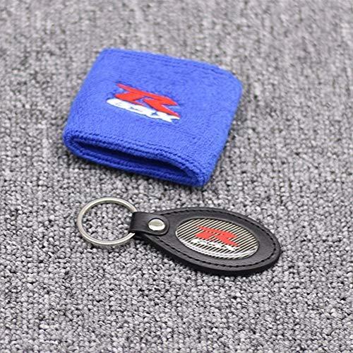 Motorrad Socken deckt Bremse for GSXR Motorrad rot/blau/schwarz Vorne Bremsbehälter Socken-Öl-flüssige Tankabdeckung Sleeves Set (Color : 10)