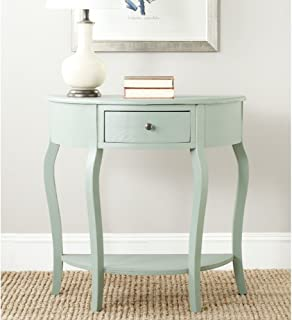 Safavieh AMH6569B American Homes Collection Jan Demilune Console Table, Dusty Green