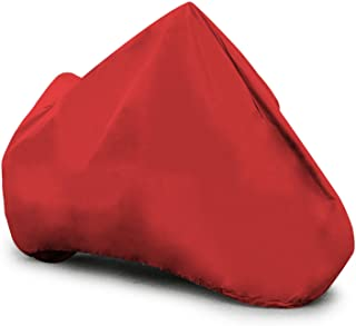 """Budge Soft Stretch Motorcycle Cover Indoor, Red, Scratchproof, Universal Fit, Fits up to 96"""", Large (MC095007003)"""