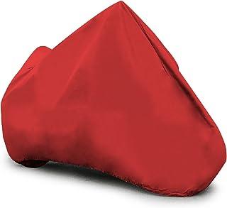 غطاء دراجة نارية مرن من بادج، أحمر، مقاوم للخدش، ملائم عالمي، يناسب حتى 96 بوصة، كبير (MC095007003)