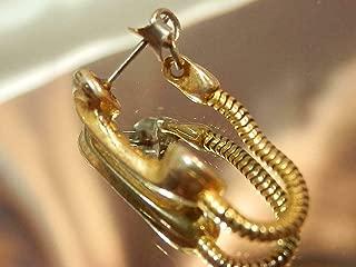 Nostalgic Fun Vintage 70's Gold Tone Telephone Receiver Pierced Earrings