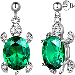 Best sterling silver emerald earrings Reviews