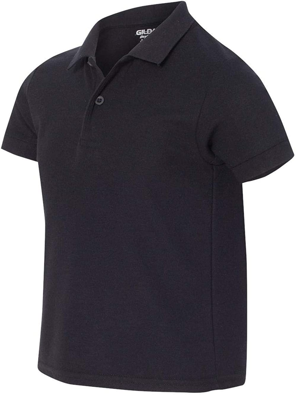 Gildan - Youth DryBlend Double Pique Polo Shirt - 72800B-Black-L