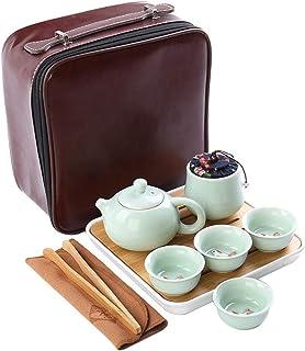GaoYunQin Service à thé de Voyage Voyage Kung Fu Ensemble de Tasses a Thé avec Plateau Portable Céramique Chinoise Porcela...