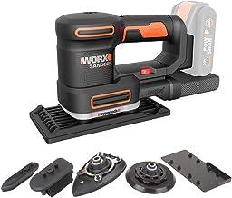 WORX WX820.9 multifunctionele schuurmachine – elektrische 20V schuurmachine – compatibel met PowerShare – zonder accu & op...