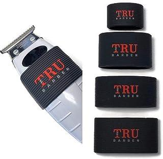 TRU BARBER Clipper Grip Bands 4 PCS ، دسته کلیپر برای آرایشگران ، آستین کلیپر برای ابزار سلمانی ، نوارهای گیر ، ضد لغزش ، مقاوم در برابر حرارت (سیاه)