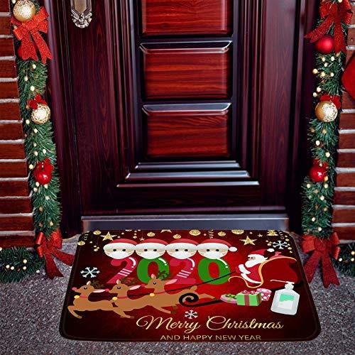 oceansEdge11 Christmas Decorative Door Mats, 2020 Annual Events Christmas Floor Mats, Outdoor Indoor Welcome Mat Quarantine, Covid_Christmas 2020 Doormat, Xmas Personalized Keepsake Decorations Rug