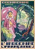 World of Art Vintage-Poster, Motiv Vietnam für Saigon