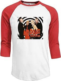 Mens No Doubt 100% Cotton 3/4 Sleeve Athletic Raglan Sleeves T-Shirt