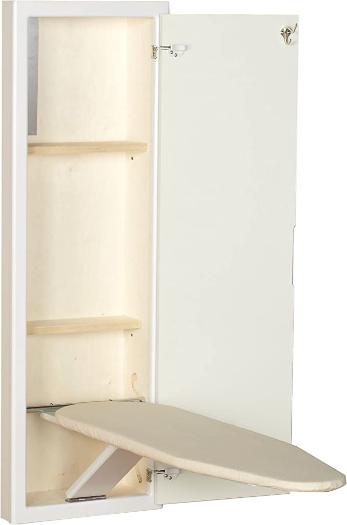 6. Household Essentials In-Wall Ironing Board Cabinet with Built-in Ironing Board