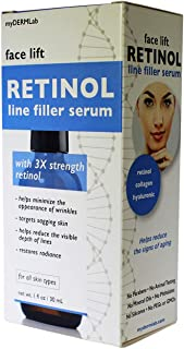 Face Lift Retinol Line filler Serum with 3X Strength 1 Fl Pz