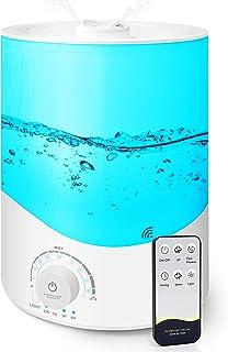 دستگاه مرطوب کننده برای اتاق خواب التراسونیک هوا - پخش کننده های اسانس روغن سرد 3.5 لیتری با دستگاه بخور رایحه درمانی از راه دور برای اتاق بزرگ: رطوبت سازهای رایحه ای BPA -Free تصفیه کننده برای دفتر کار