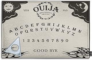 Mugod Ouija Board Indoor/Outdoor Doormat Letter Number of a Ouija Board Sun Moon Star Spook on Planchette Funny Doormats Bathroom Kitchen Decor Area Rug Non Slip Entrance Door Floor Mats, 18