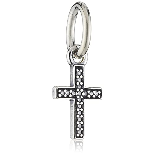 fe8a553f9 Amazon.com: Pandora Symbol of Faith Cross Dangle Charm 791310CZ: Jewelry