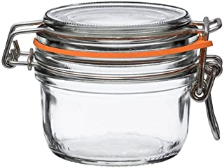 Le Parfait Super Terrine - 125ml French Glass Canning Jar w/Straight Body, Airtight Rubber Seal & Glass Lid, 4oz (Pack of ...