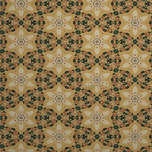 daoyiqi Juego de pegatinas decorativas para azulejos, diseño vintage, diseño damasco, 10,4 x 10,4 cm, vinilo impermeable para decoración del hogar