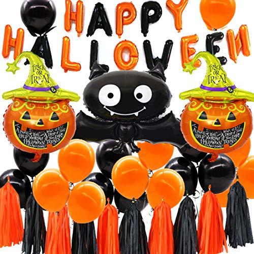 Globos de Halloween, Calabaza Araña Ghost Decoración Fiesta Suministros y Decoración Globo para Hombres y Mujeres Adultos Decoración de Fiesta