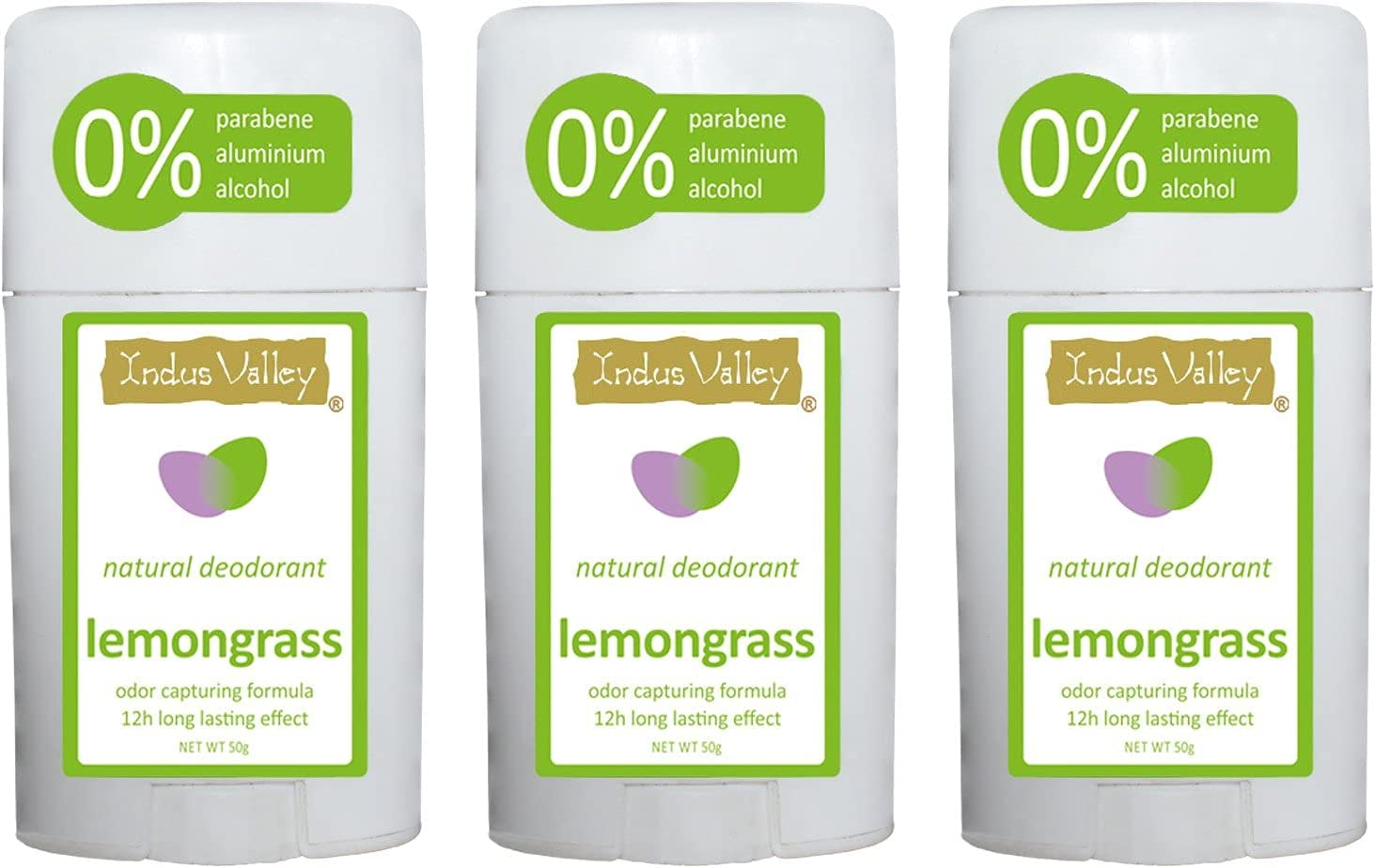 Saheb Indus Valley Lemongrass Deo 3 Set Stick of 150g Free shipping Fees free!!