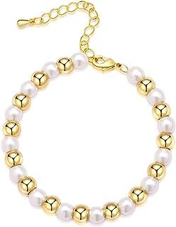 أساور ذهبية أنيقة للنساء من سبرابي ، 14 قيراط مطلية بالذهب سوار قابل للتعديل لطيف عملة ورقية الذهب سلسلة أساور