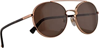 Valentino VA 2002 Sunglasses Rose Gold w/Brown Lens 55mm 300473 VA2002S VA2002/S VA2002