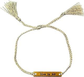 Kingdom Inspirational Jewelry Thread Bracelet with Brass Plate, 6 Inch