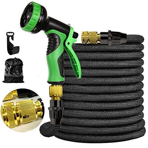 Flexibler Gartenschlauch 100FT 30M Garden Hose Kit Wasserschlauch dehnbarer Flexischlauch Multisfunktionsbrause mit 9 Funktionen passend für jeden Wasserhahn