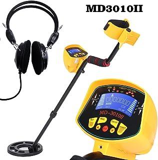 KKmoon MD3010II - Detector de metales ABS + aluminio + cobre alta sensibilidad, detector de