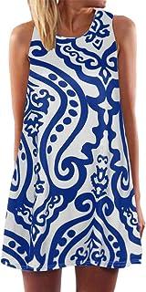 MILIMIEYIK Vestido de Blusa Elegante para Mujer, Vestido Hawaiano de Verano, Casual, Simple, Suelto, para Playa, Color Negro, XL