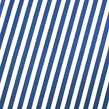 0,5m Streifen-Stoff 5mm royalblau/weiß 1,4m breit 100%