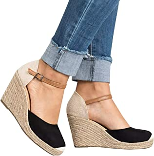 Best black high heel espadrilles Reviews