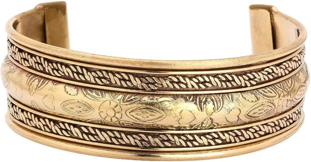 iCraftJewel Pure Copper Brass Cap Adjustable Bracelet Cuff Wrist