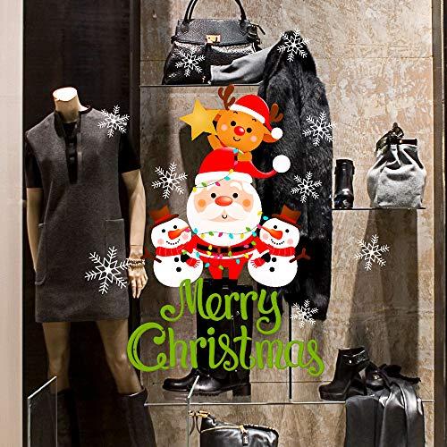 CRNT0159 - Adhesivo decorativo para escaparates de tiendas, escaparates sin pegamento, reposicionable y reutilizable