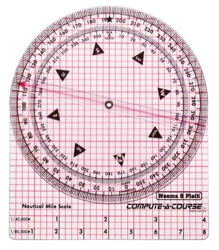 Weems & Plath Marine Navigation Compute-a-Course Mehrzweck-Darstellung Werkzeug