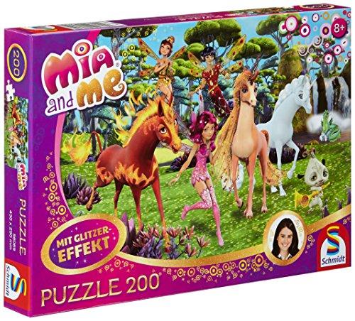 Schmidt Spiele 56069 Mia & Me, In Centopia, 200 Teile Glitzerpuzzle