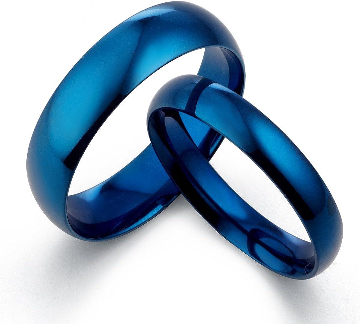 Super special Jacksonville Mall price Gemini His Her 's Dome Blue Couple Promise Tita Wedding Polish