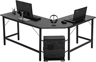ACPLAY L-Shaped Computer Office Desk, Corner Gaming Desk with CPU Stand, Home Office Sturdy PC Laptop Table Workstation fo...