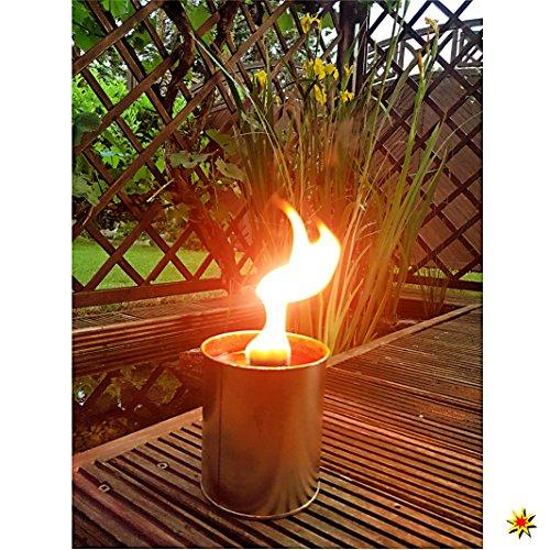 Krause & Sohn Partyfeuer - Gartenfackel 5 Std. Brennzeit als Flammenschale auch zum Anzünden von Fackeln … (4)