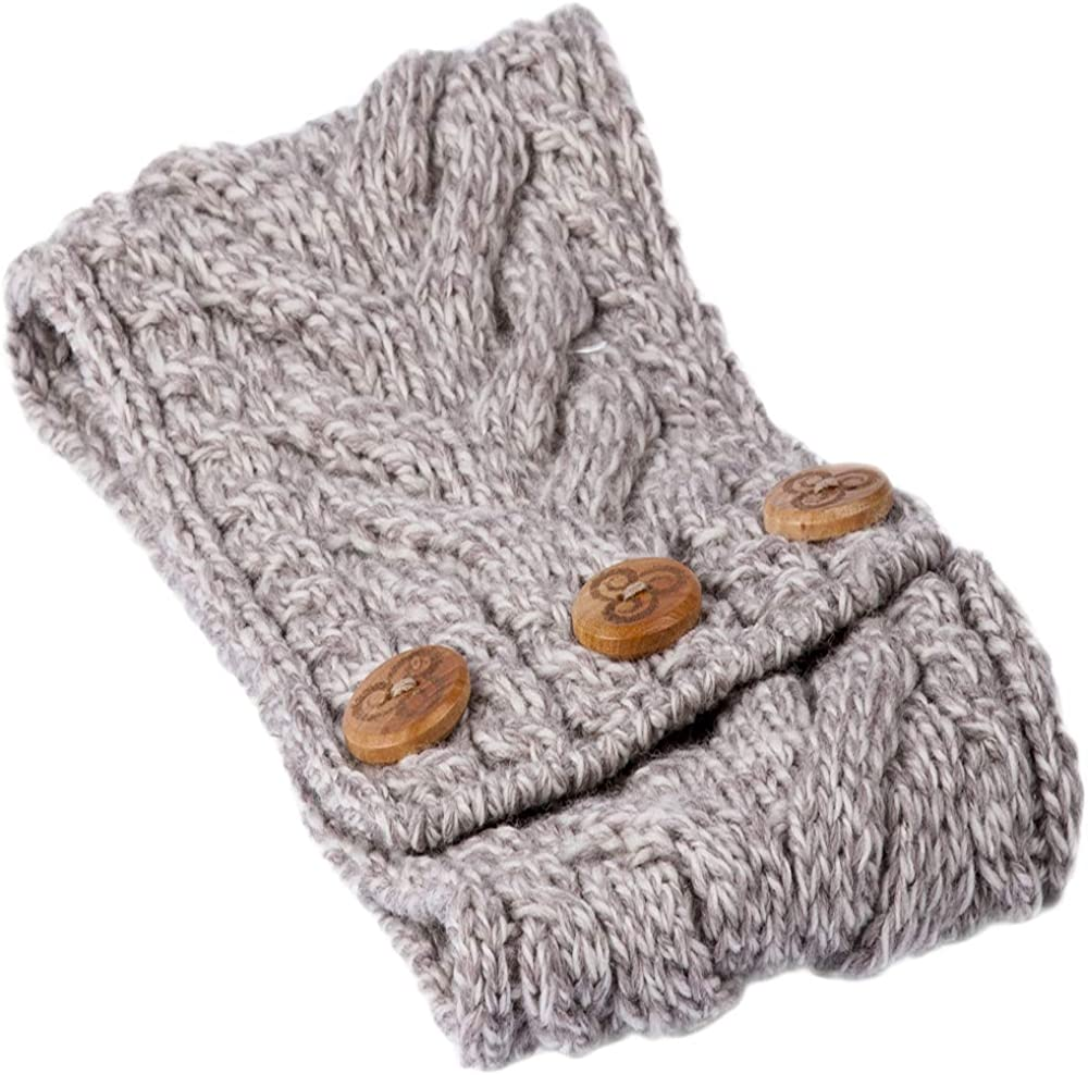 The Scotland Kilt Company Ladies Merino Wool Cable Knit Headband By Aran Mills