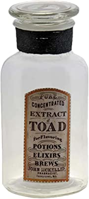 CWI Gifts Extract of Toad Glass Jar