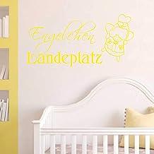 Indigos UG wandtattoo - wandsticker - wandtattoo engel landelijk - decoratie keuken woonkamer muur 90x45cm geel